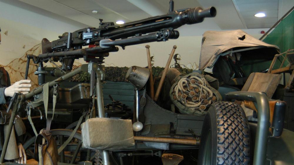 Una mitragliatrice tedesca. (archivio)